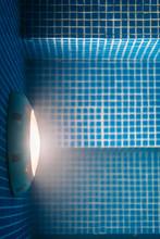 Pool Light Bulb At Night Textu...