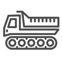 Snowplow Line Icon, Winter Tra...