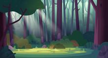 Cartoon Magic Summer Jungle Fo...