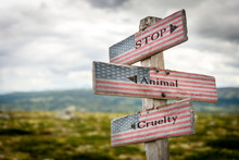 Stop Animal Cruelty Text On Wo...