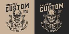 Custom Motorycle Service Vintage Print