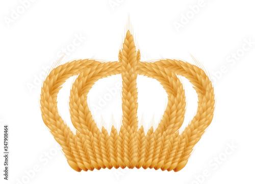 Fototapeta königliche Krone aus Weizen Ähren