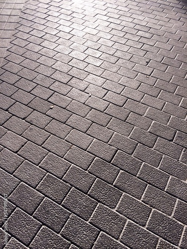 Valokuva Detail Of Cobblestone Street