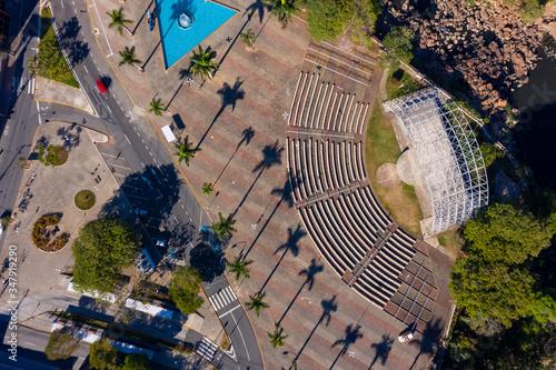 Archimedes Lammoglia square seen from the top in Salto, Sao Paulo, Brazil Wallpaper Mural