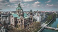 Aerial View Of St. Lukas Churc...