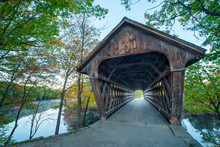 Old Covered Bridge In New Engl...