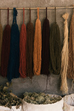 Wool Hangs From A Natural Dye ...