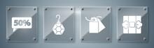 Set Gift Box, Blank Label Temp...