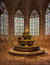 Medieval Fountain Of The Cistercian Monastery Heiligenkreuz Abbey
