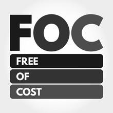FOC - Free Of Cost Acronym, Bu...