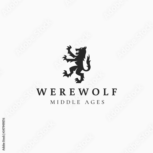 Fototapeta Werewolf logo illustration