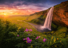 Majestic Waterfall Located On ...