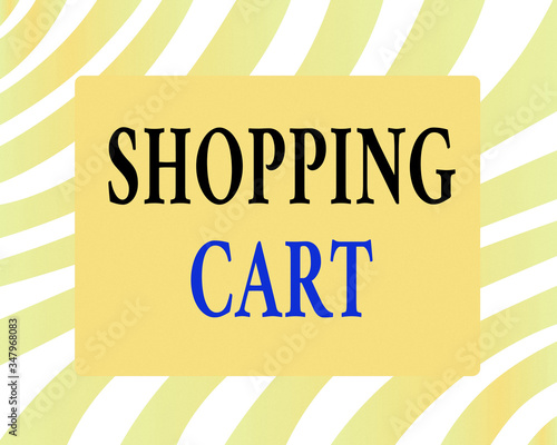 Word writing text Shopping Cart Wallpaper Mural
