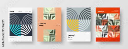 Obraz na płótnie Company identity brochure template collection