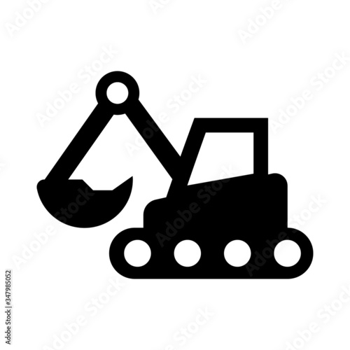Photo backhoe icon - From Transportation, Logistics and Machines icon