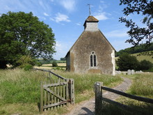 Front View Of A Small Church