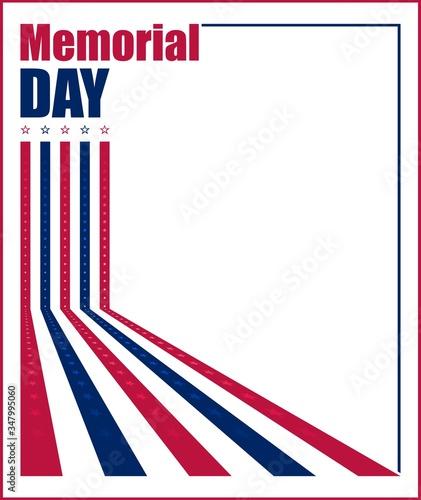 Vector illustration for US Memorial Day celebration Fotomurales