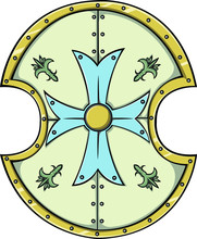Vector Heraldic Shield With Th...