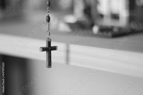 Stampa su Tela Close-up Of Crucifix