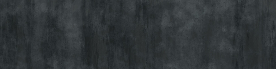 abstract grunge dark gray background, wide wall texture, banner with copy space