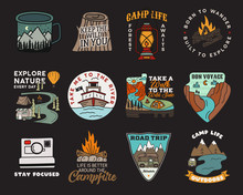 Vintage Mountain Camp Badges L...