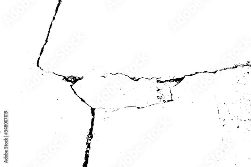 Cracked grunge urban background with rough surface Fototapete
