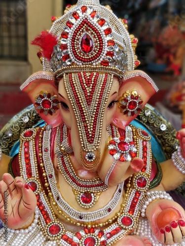 Obraz na plátně Close-up Of Ganesh Idol Outdoors