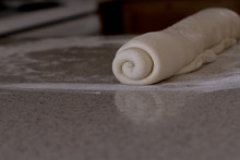 Rolled Bread Dough On A Floure...