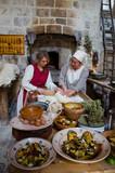 Fototapeta Kawa jest smaczna - Women Preparing Food In Kitchen
