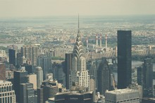 Aerial View Of Chrysler Building In City