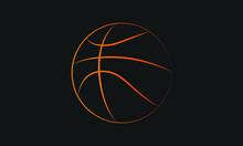Illustration Of A Basketball Outline.