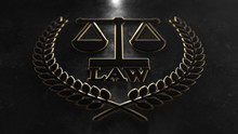 Court Of Law Lawyer Legal Representation Plaque Title - 3D Illustration Render