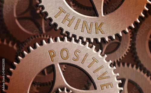 Photo Text sign showing Think Positive