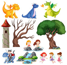 Set Of Children Is Fairy Tale ...