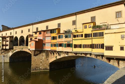 The famous Ponte Vecchio bridge over the Arno river