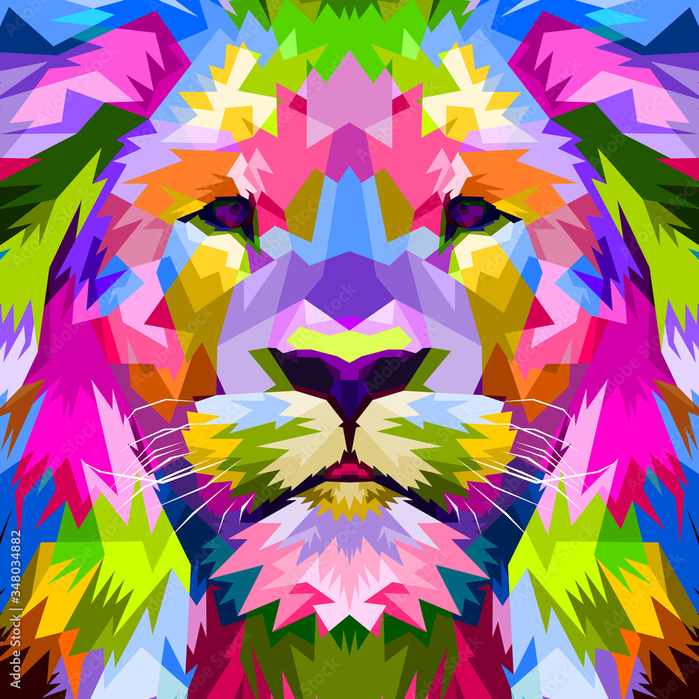 Fototapeta close up of face lion