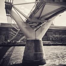Column Of Millennium Footbridge On Thames River
