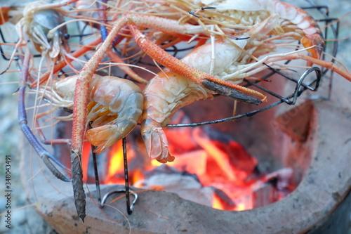 Fototapety, obrazy: grilled's shrimp