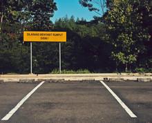 Information Sign At Roadside