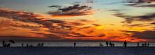 Sunset Over The Beach, Sky, Cl...