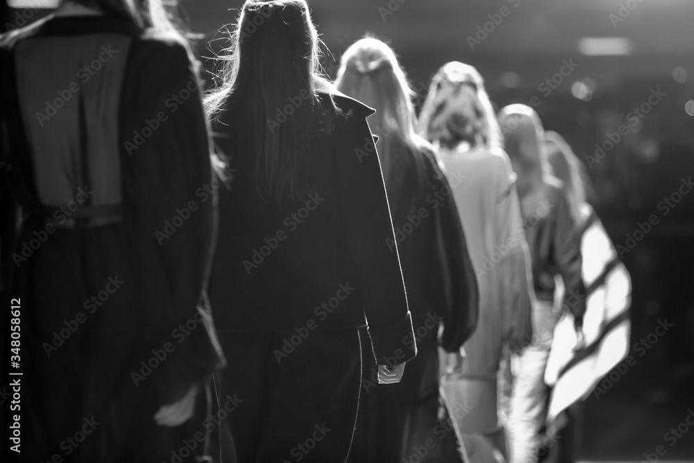 Fashion show, fashion week themed photo.