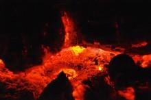 Macro Shot Of Fire Place