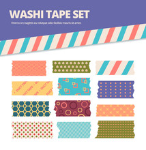 Washi Tape Set. Japanese Strip...