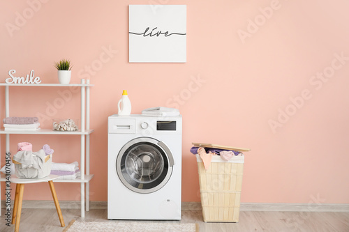 Photographie Interior of modern home laundry room