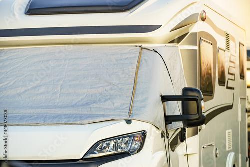 Obraz Motorhome with thermal screen blind - fototapety do salonu
