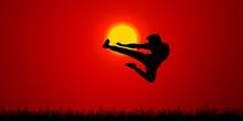 Kung Fu Karate Background.