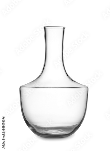Photo Empty decanter on white background