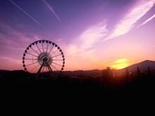 Ferries Wheel On Silhouette La...