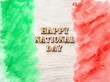Leinwanddruck Bild - Italian National Day. Festa della Repubblica Italiana. Beautiful greeting card. Close-up, view from above. National holiday concept. Congratulations for family, relatives, friends and colleagues