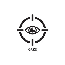 GAZE ICON , TELESCOPE ICON VEC...